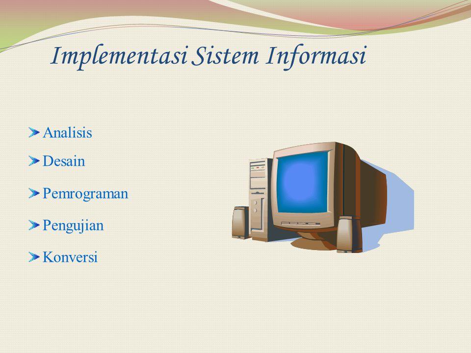 Implementasi Sistem Informasi Analisis Desain Pemrograman Pengujian Konversi