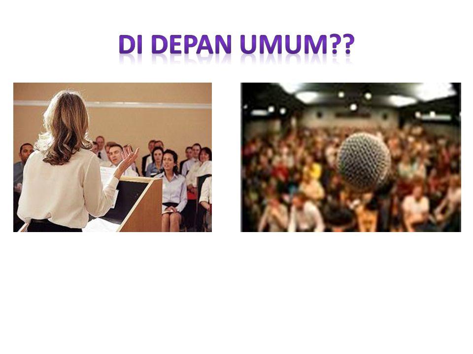 Berbicara didepan umum dapat diartikan melahirkan pendapat atau menyampaikan pikiran, mengekspresikan gagasan didepan orang banyak.