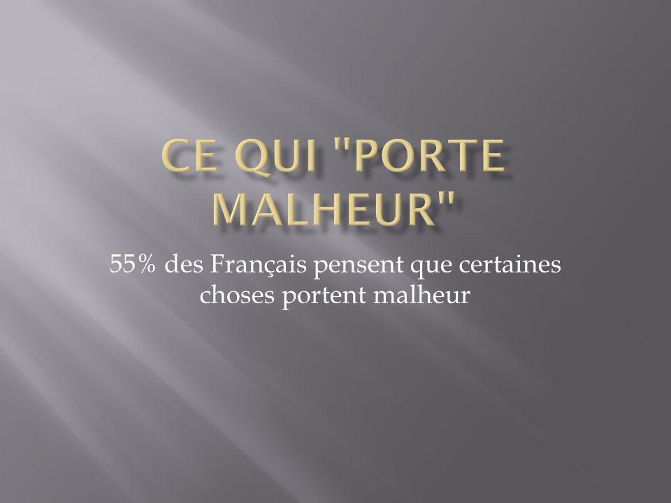 55% des Français pensent que certaines choses portent malheur