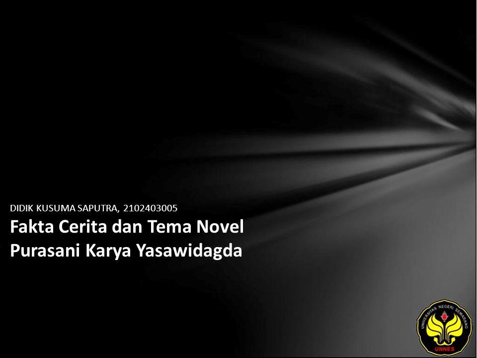 DIDIK KUSUMA SAPUTRA, 2102403005 Fakta Cerita dan Tema Novel Purasani Karya Yasawidagda