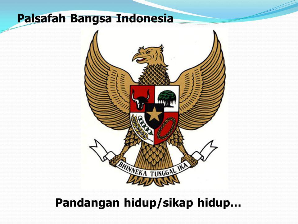 Pandangan hidup/sikap hidup… Palsafah Bangsa Indonesia