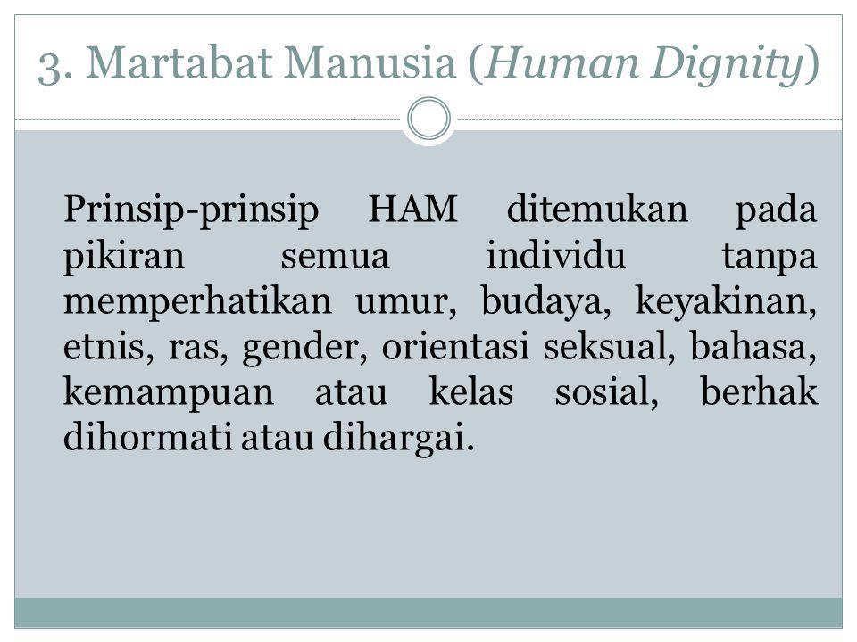 4.Non Diskriminasi (Non Discrimination) Non-diskriminasi terintegrasi dalam kesetaraan.