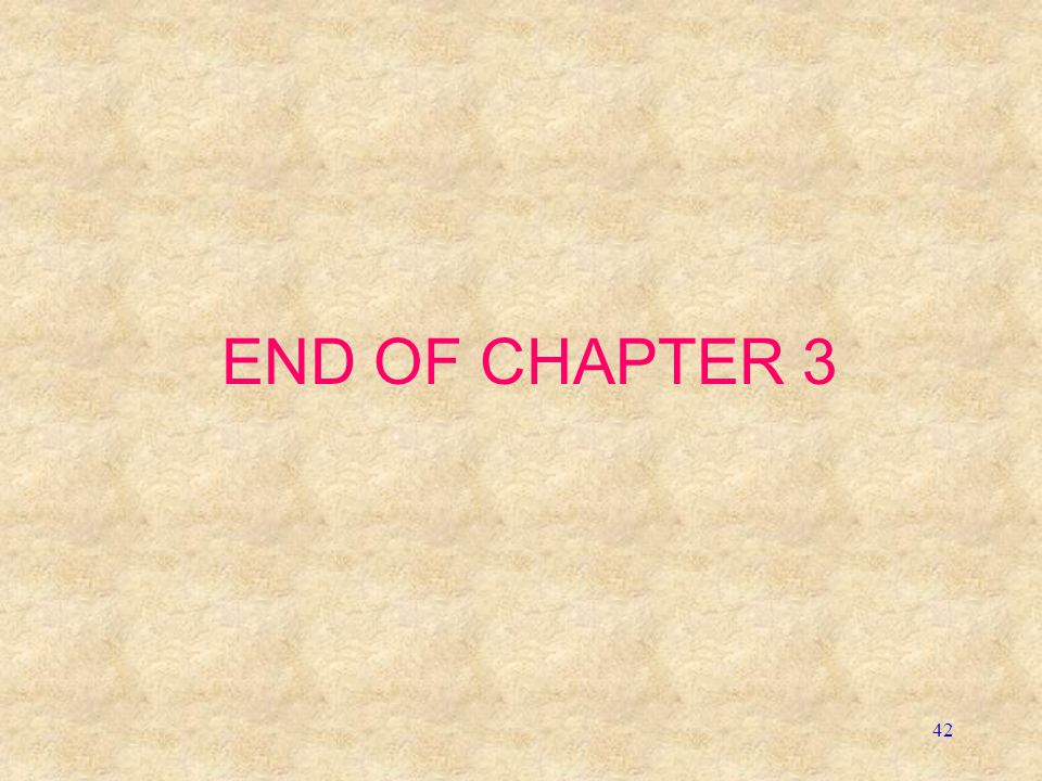 42 END OF CHAPTER 3