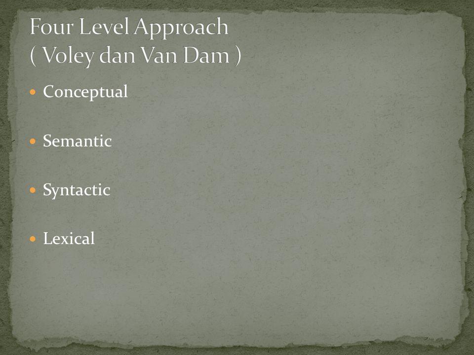 Conceptual Semantic Syntactic Lexical