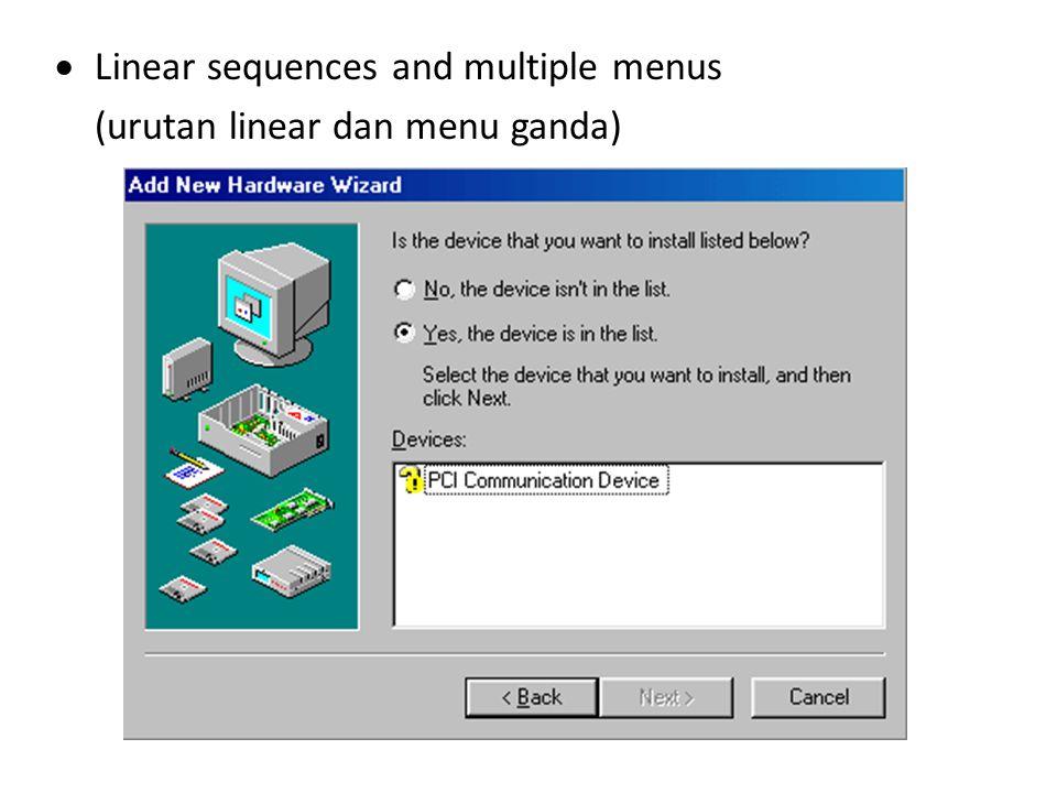 Pedoman perancangan formulir Gunakan judul yang berarti – Identifikasi topik dan jauhi istilah komputer Gunakan petunjuk yang dapat dipahami – Jelaskan task dengan singkat dan jika perlu sediakan layar petunjuk – Gambarkan aksi yang harus dilakukan – Hindari kata ganti atau referensi ke pemakai