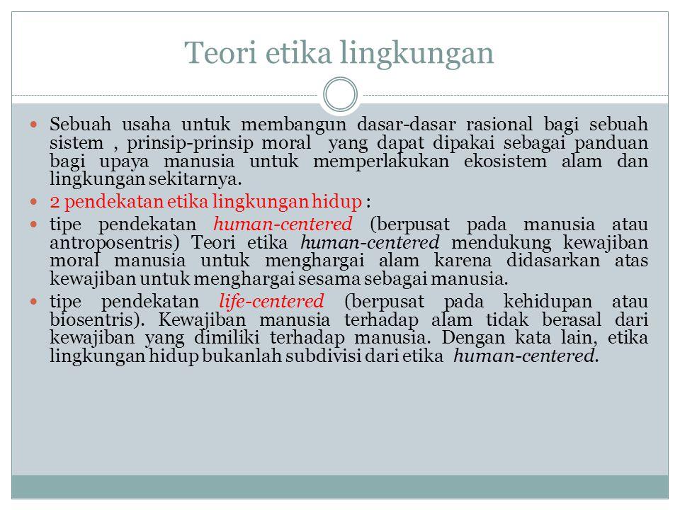 Prinsip-prinsip Etika Lingkungan 5.