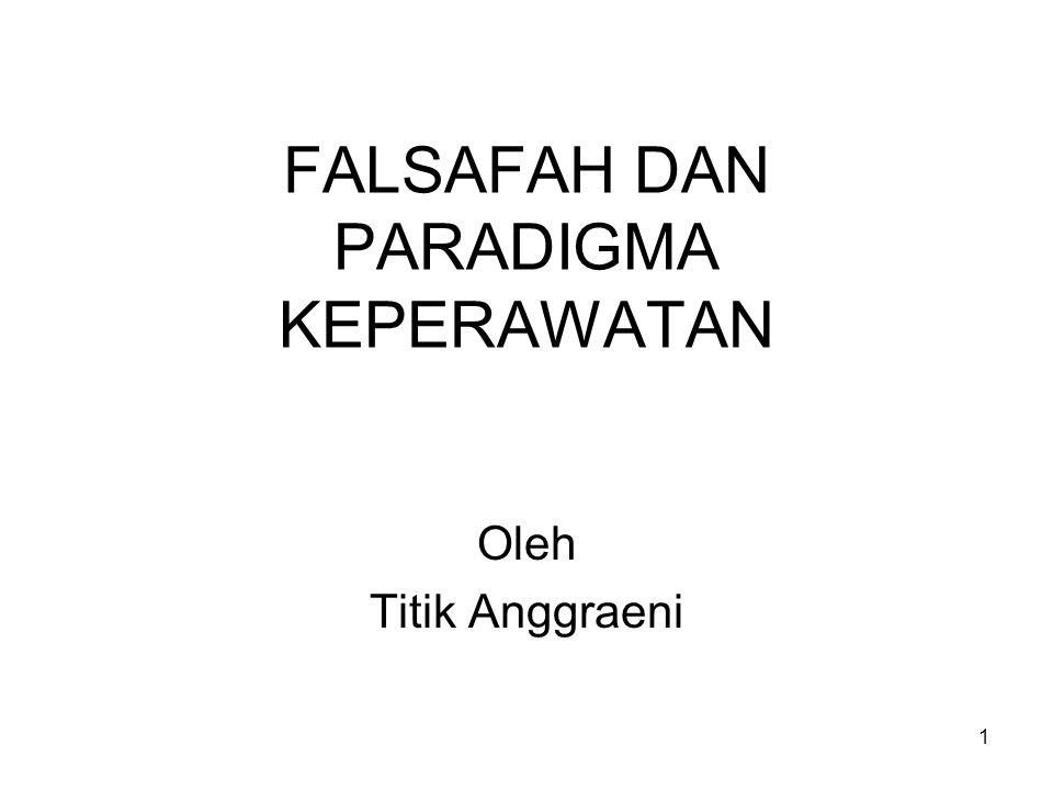1 FALSAFAH DAN PARADIGMA KEPERAWATAN Oleh Titik Anggraeni