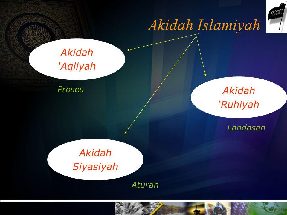 Akidah Islamiyah (2) Oleh MR Kurnia Hizbut Tahrir Indonesia
