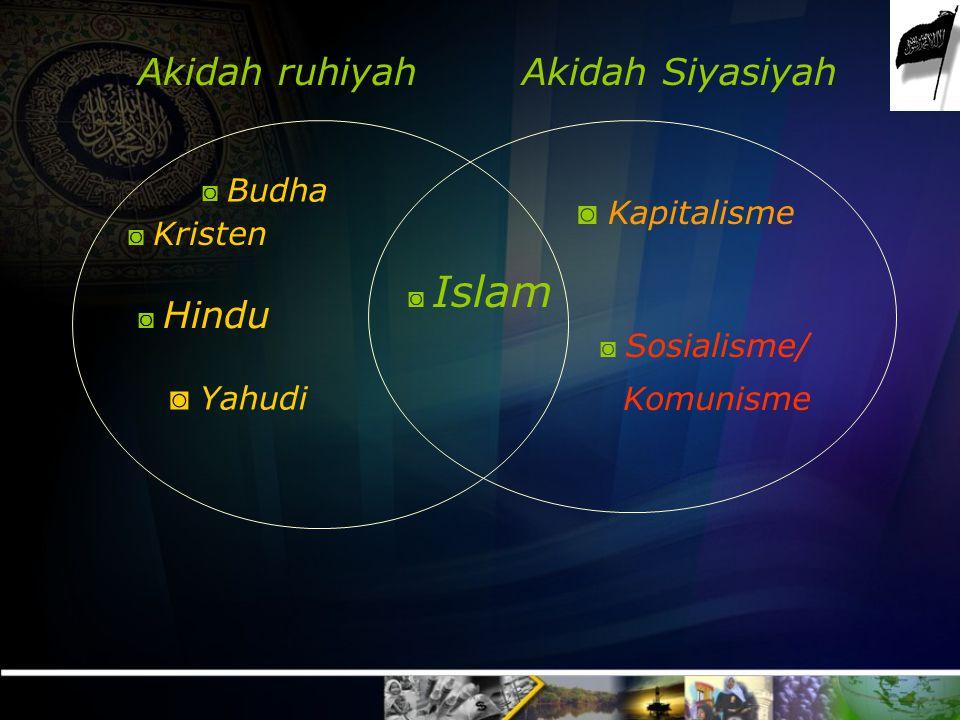 Akidah SiyasiyahAkidah ruhiyah ◙ Kapitalisme ◙ Sosialisme/ Komunisme ◙ Islam ◙ Kristen ◙ Hindu ◙ Yahudi ◙ Budha
