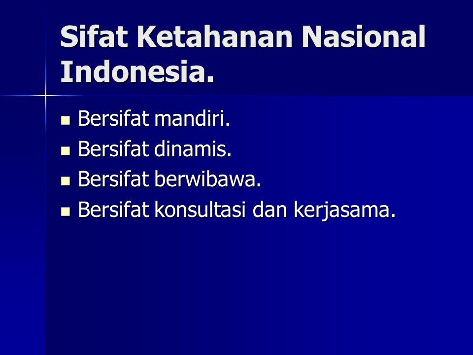 Sifat Ketahanan Nasional Indonesia. Bersifat mandiri. Bersifat mandiri. Bersifat dinamis. Bersifat dinamis. Bersifat berwibawa. Bersifat berwibawa. Be
