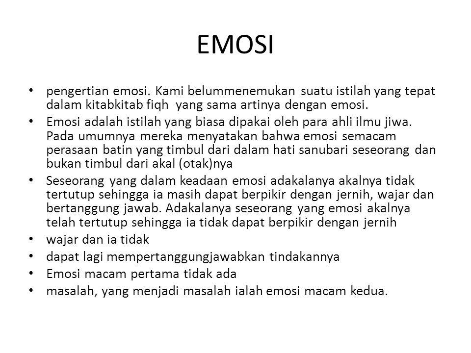 EMOSI pengertian emosi.