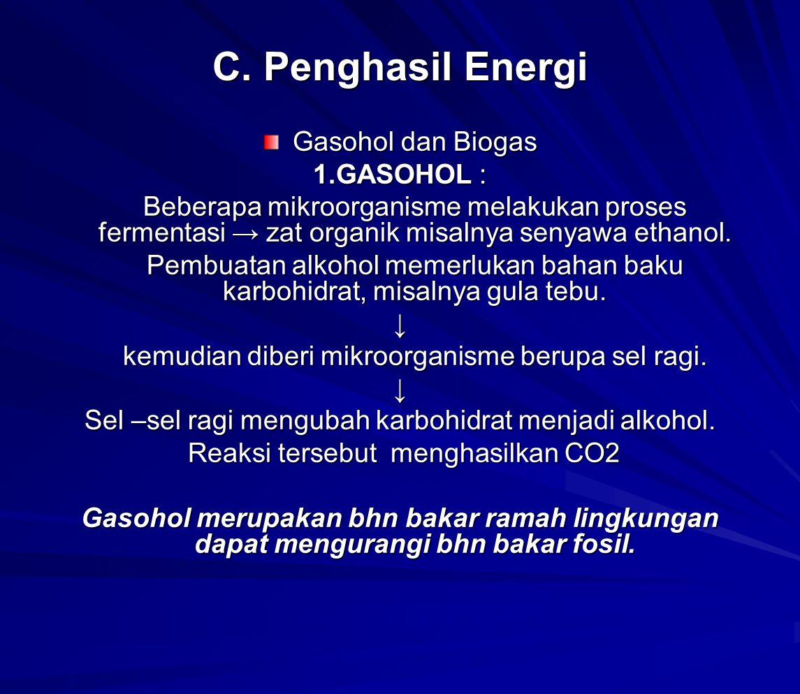 2.Biogas adalah gas metana hasil penguraian sampah organik secara anaerobik oleh mikroorganisme.