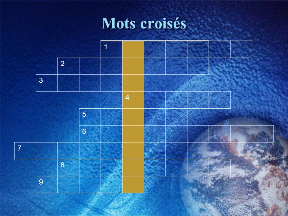 Mots croisés 1 2 3 4 5 6 7 8 9