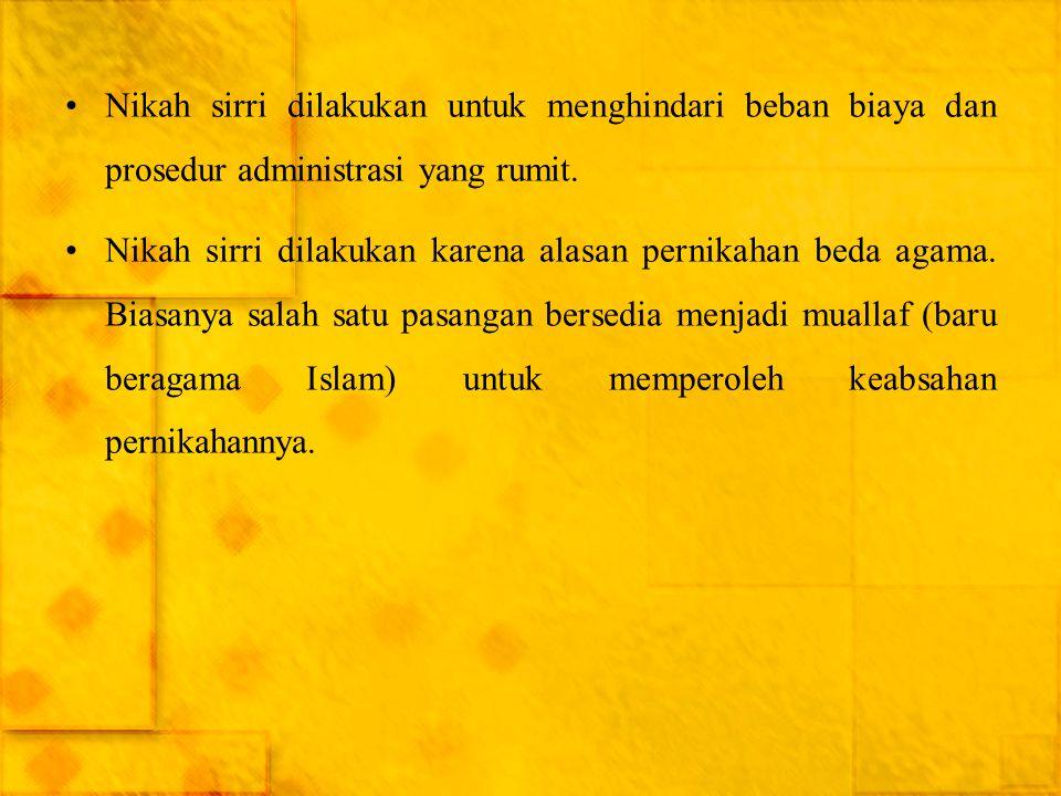 Faktor-Faktor Terjadinya Poligami ● Adapun alasan untuk berpoligami yang bersifat falkutatif tertera dalam pasal 4 ayat (2) Undang-Undang Perkawinan, yaitu: ● Istri tidak dapat menjalankan kewajibannya sebagai seorang istri.