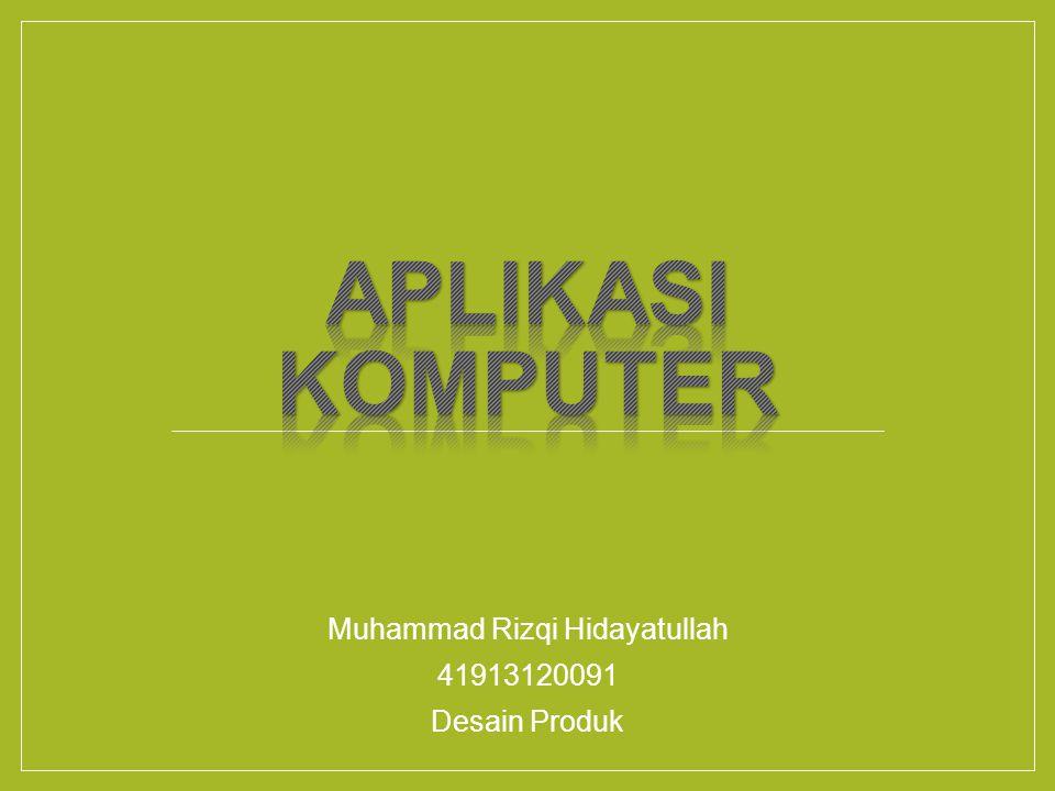 Muhammad Rizqi Hidayatullah 41913120091 Desain Produk