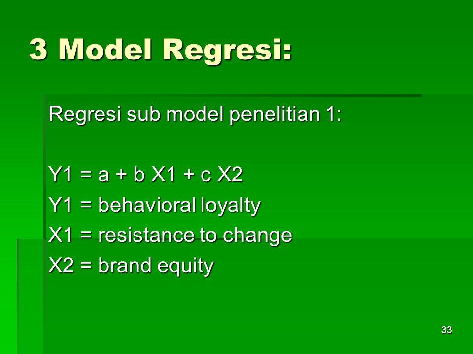 32 Metode Analisis: 1. Uji Validitas dan Reliabilitas 2. Analisa regresi linear berganda