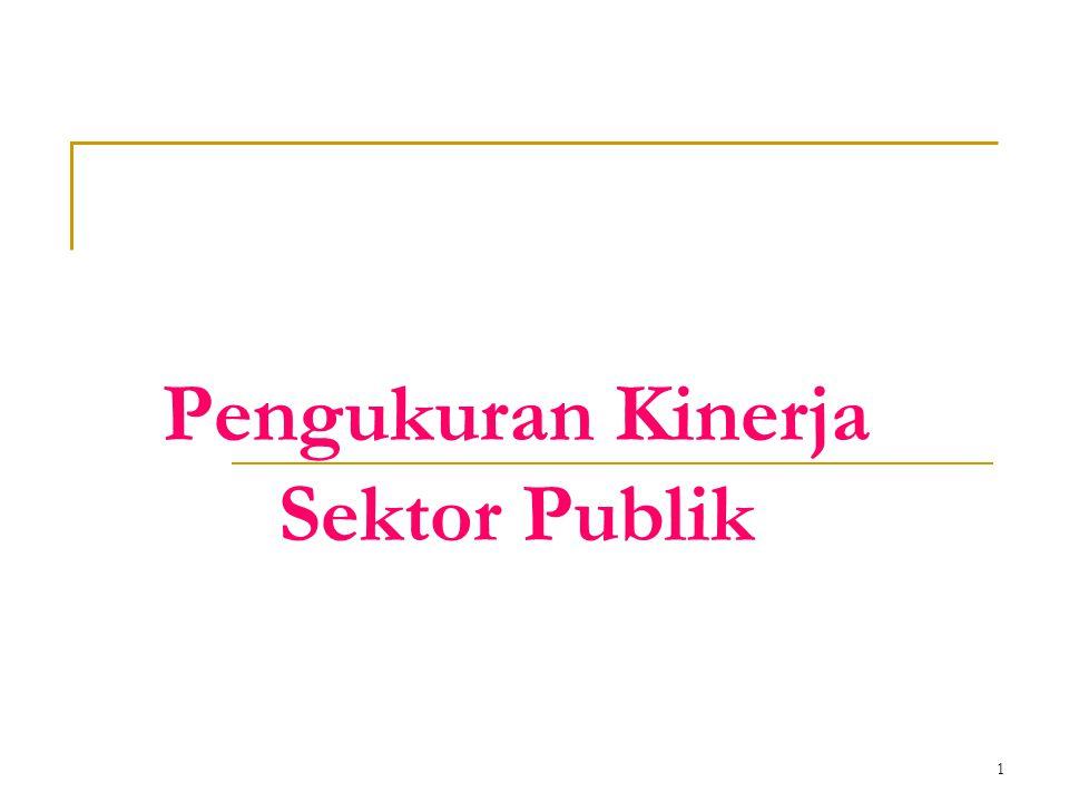 1 Pengukuran Kinerja Sektor Publik