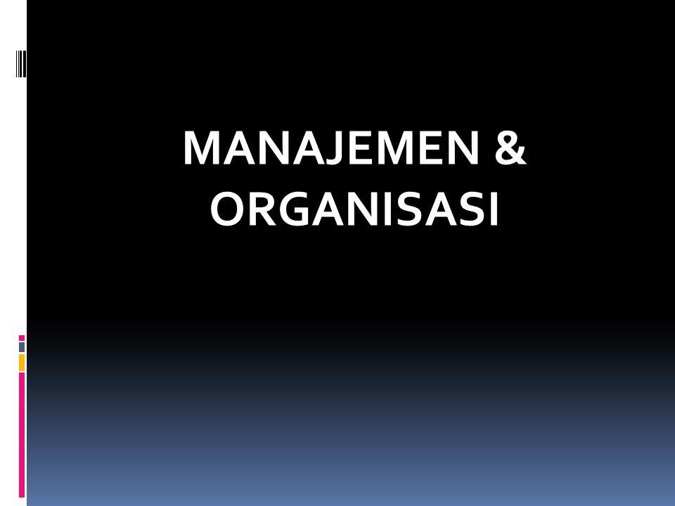 ARTI & FUNGSI MANAJEMEN  Manajemen = ilmu & seni merencanakan, mengorganisasi, mengarahkan, mengkoordinasikan serta mengawasi tenaga manusia dengan bantuan alat-alat untuk mencapai tujuan yang telah ditetapkan  Fungsi manajemen perusahaan : 1.