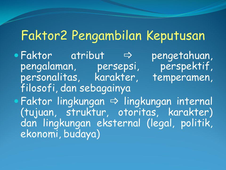 Tipe Keputusan Keputusan administratif atau operasional.
