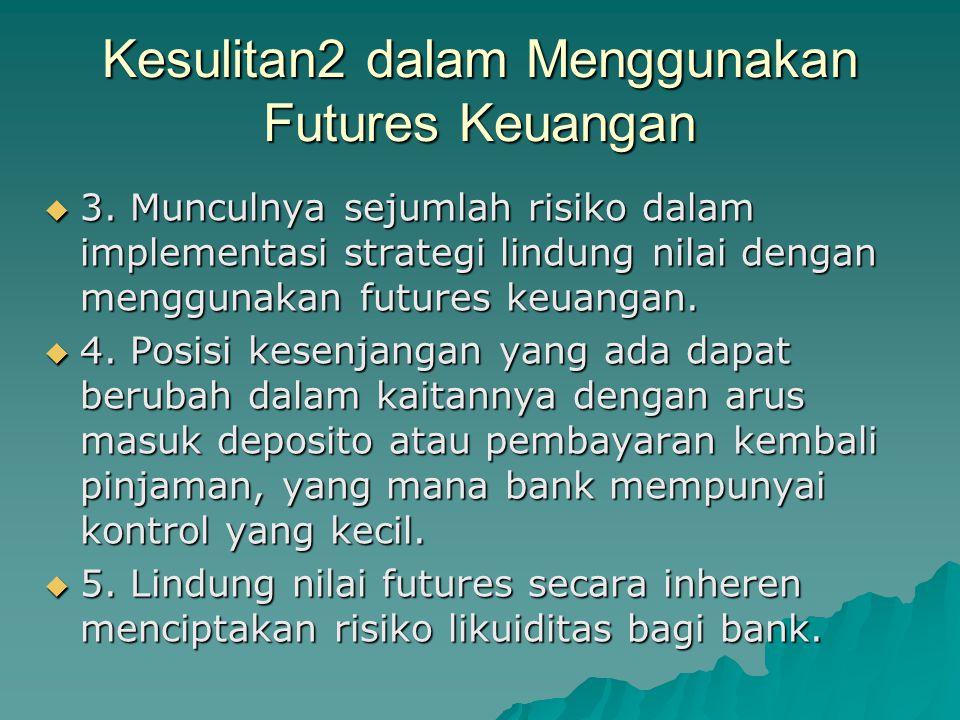 Kesulitan2 dalam Menggunakan Futures Keuangan  3.