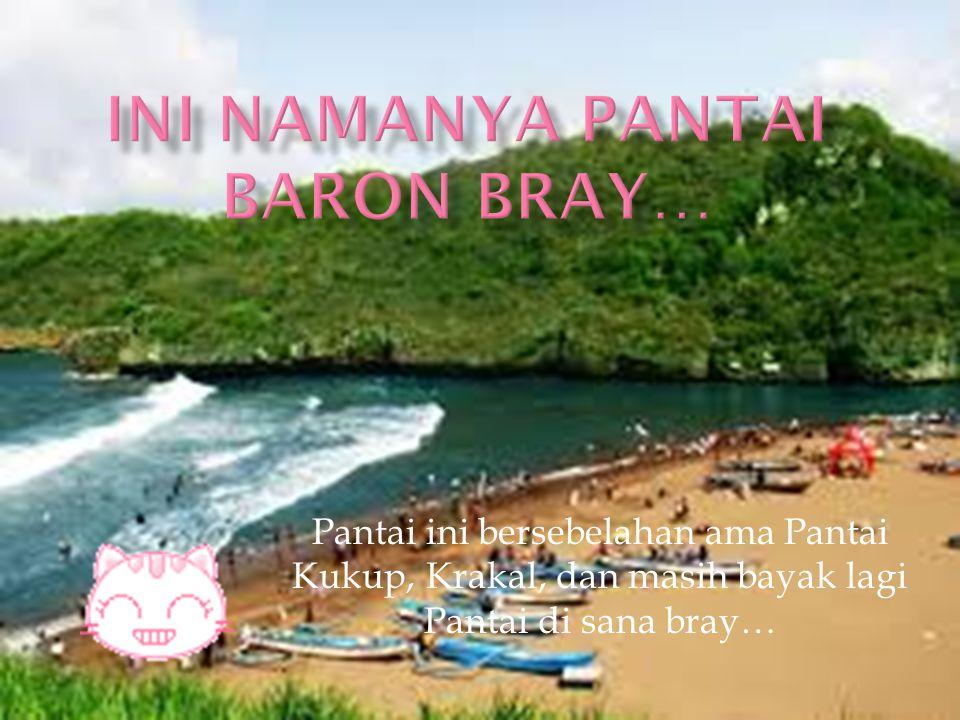 Pantai ini bersebelahan ama Pantai Kukup, Krakal, dan masih bayak lagi Pantai di sana bray…