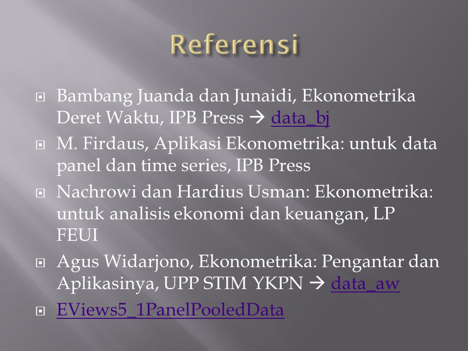  Data panel dalam format Ms. Excel  Stacked Data Vs Unstacked Data