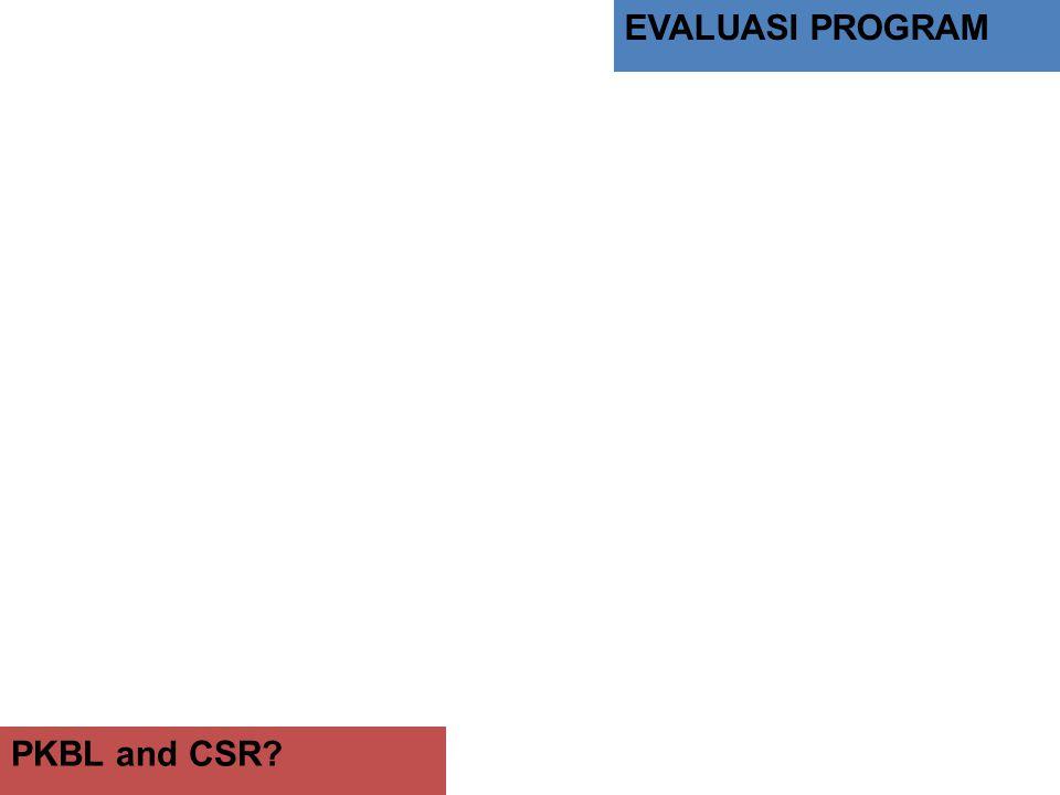 EVALUASI PROGRAM PKBL and CSR?