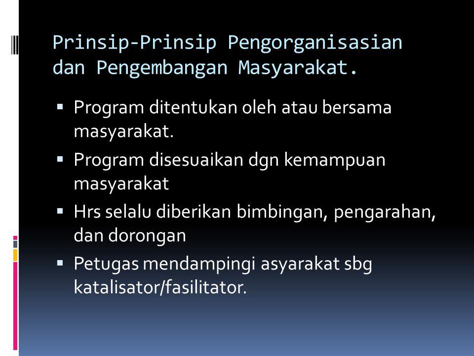 Prinsip-Prinsip Pengorganisasian dan Pengembangan Masyarakat.