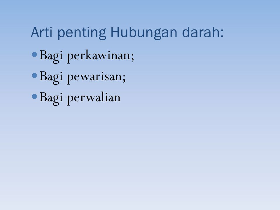 Kewajiban dan Hak Suami-Istri: Suami-istri memikul kewajiban yang luhur untuk menegakkan rumah tangga yang menjadi sendi dasar susunan masyarakat (Pasal 30); Suami-istri wajib saling cinta-mencintai, hormat- menghormati, setia dan memberi bantuan lahir batin yang satu kepada yang lain (Pasal 33); Suami adalah kepala keluarga dan istri adalah ibu rumah tangga (Pasal 31 ayat (3)