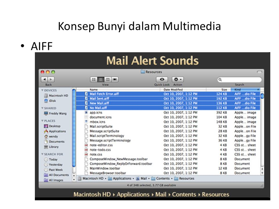 Konsep Bunyi dalam Multimedia AIFF