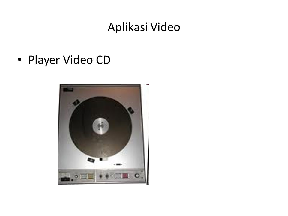 Aplikasi Video Player Video CD