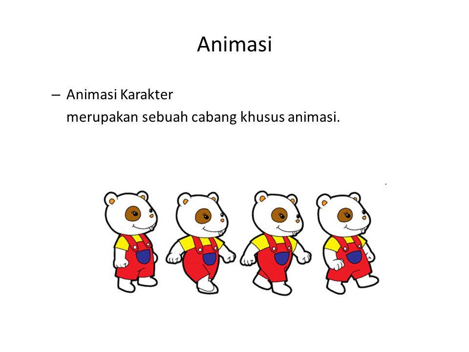 Animasi – Animasi Karakter merupakan sebuah cabang khusus animasi.