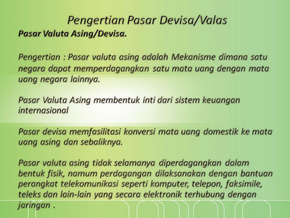 Peserta Pasar Valas 1.Perusahaan.