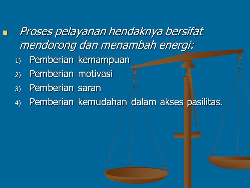KARAKTERISTIK ORGANISASI PELAYANAN KEMANUSIAAN Proses pelayanan hendaknya berorientasi pada pemenuhan kebutuhan klien: Proses pelayanan hendaknya berorientasi pada pemenuhan kebutuhan klien: 1) Diperlakukan sebagai individu 2) Menyatakan perasaan 3) Memperoleh tanggapan terhadap masalah yang dialami 4) Diakui sebagai pribadi yang bermartabat 5) Tidak dipersalahkan 6) Menentukan keputusan sendiri 7) Dilindungi kerahasiaannya.