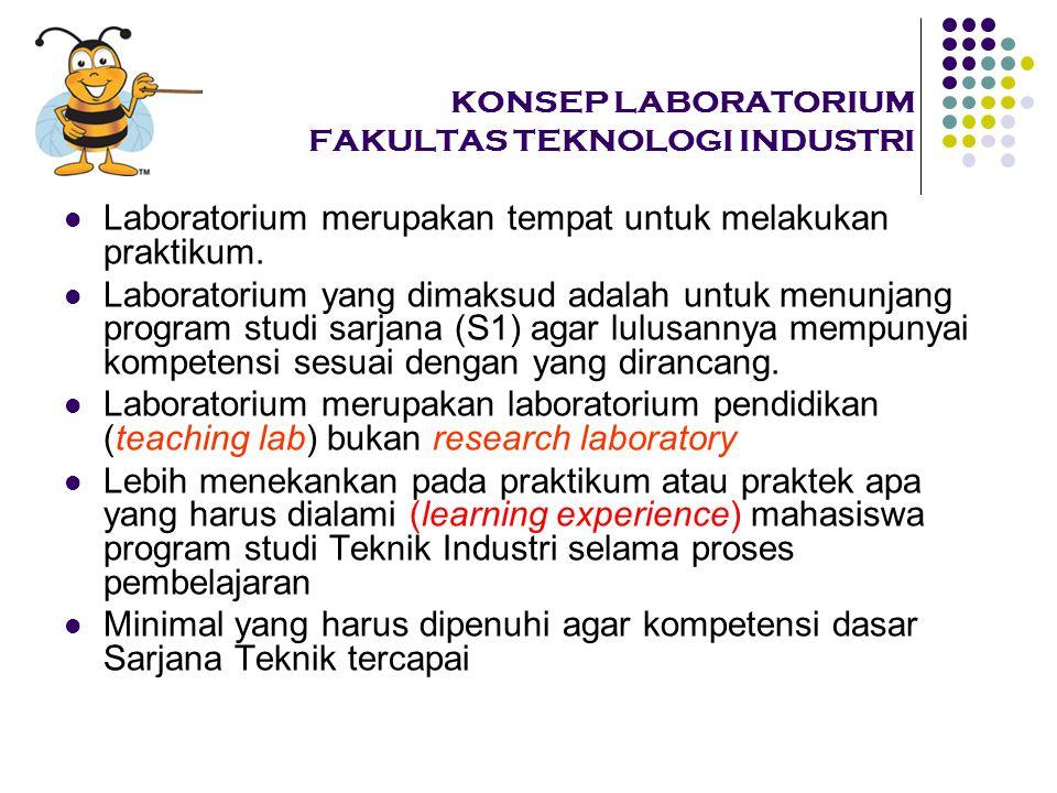 KONSEP LABORATORIUM FAKULTAS TEKNOLOGI INDUSTRI Laboratorium merupakan tempat untuk melakukan praktikum.