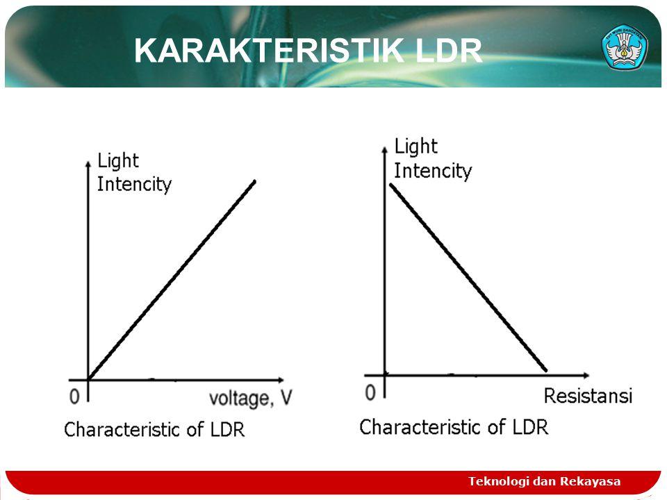 KARAKTERISTIK LDR Teknologi dan Rekayasa