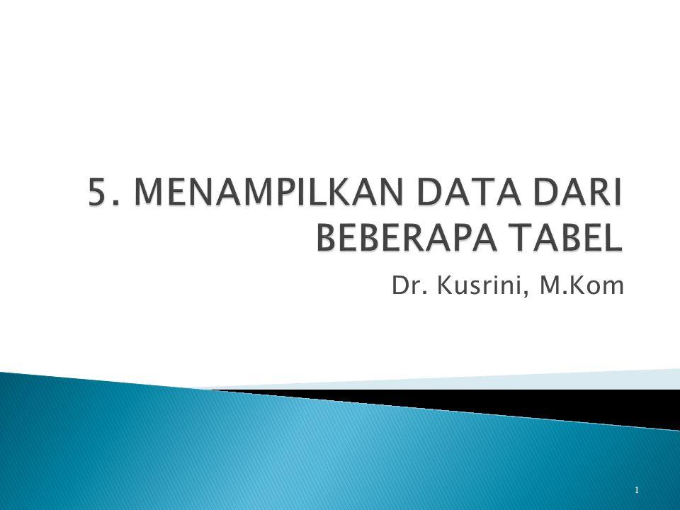 Dr. Kusrini, M.Kom 1