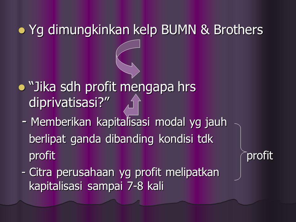 "Yg dimungkinkan kelp BUMN & Brothers Yg dimungkinkan kelp BUMN & Brothers ""Jika sdh profit mengapa hrs diprivatisasi?"" ""Jika sdh profit mengapa hrs di"