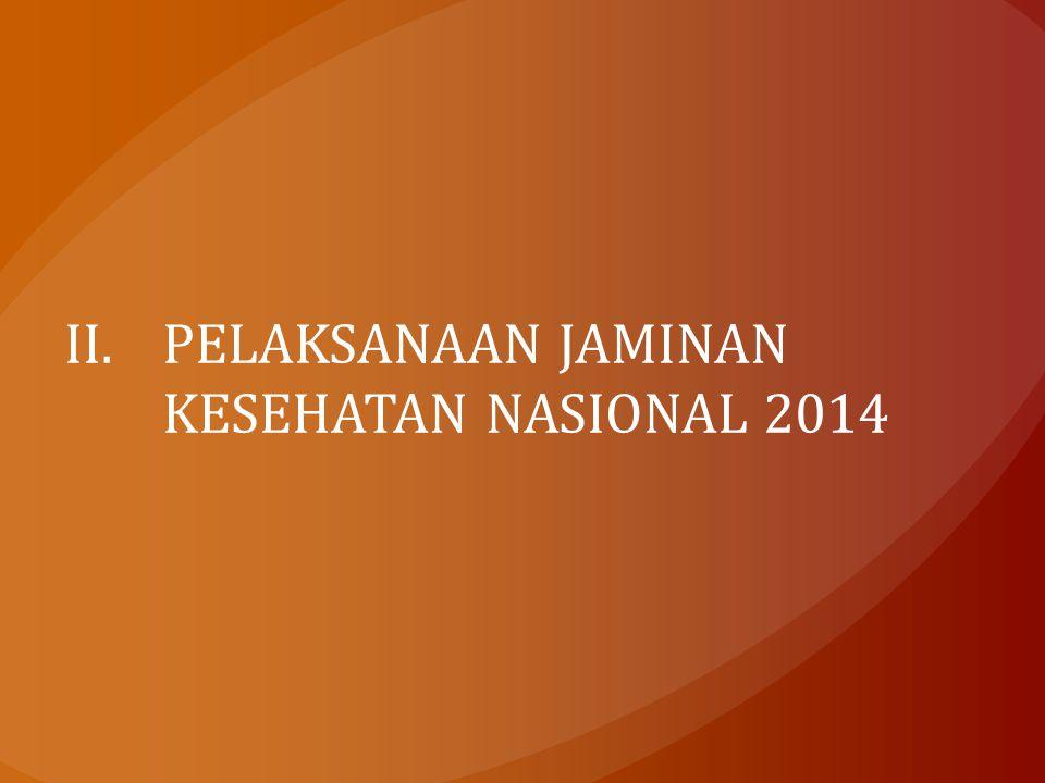 II.PELAKSANAAN JAMINAN KESEHATAN NASIONAL 2014