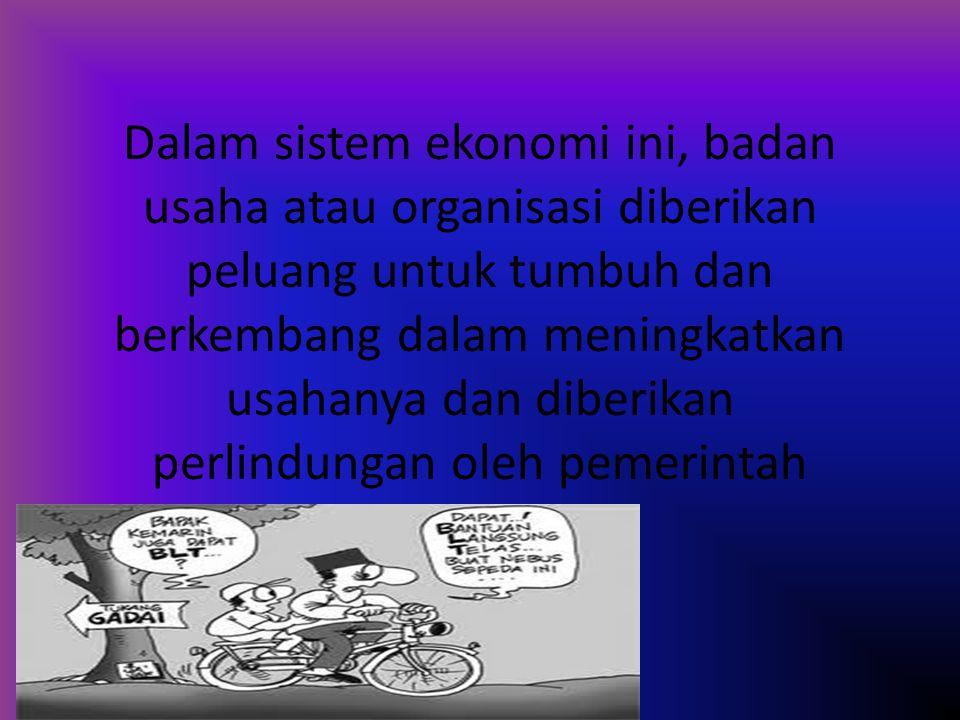 Berdasarkan materi sebelumnya, sistem elonomi yang diterapkan di indonesia adalah sistem demokrasi indonesia