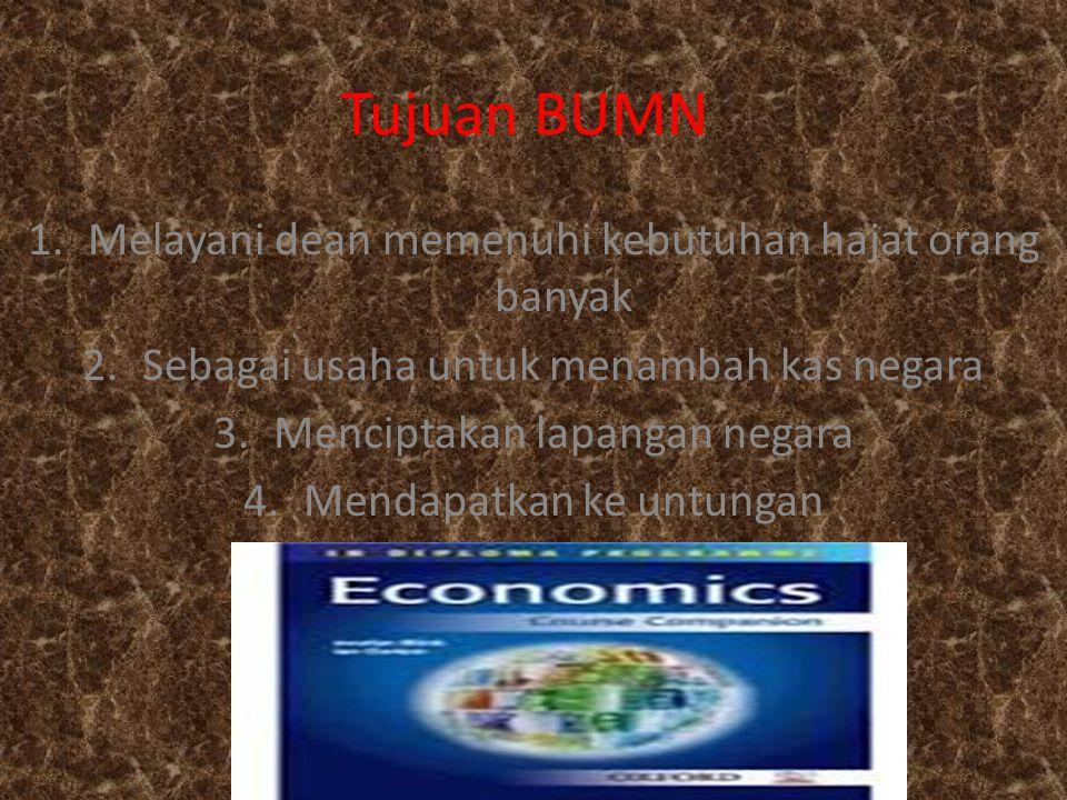 Sumber modal BUMN 1.Sebagian kekayaan negara yang disisihkan 2.Cadangan atau sebagian ke untungan yang disisihkan dan 3.Pasar modal