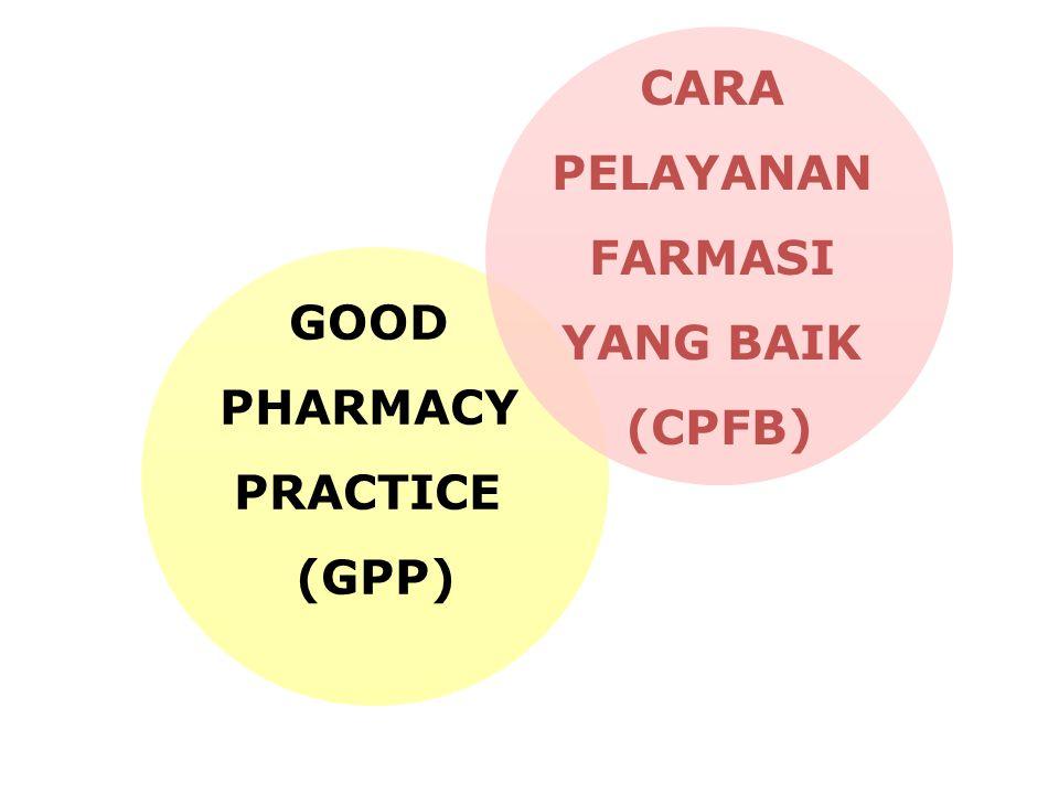 FIP, TOKYO, 1993 WHO-FIP, 1997 GOOD PHARMACY PRACTICE (GPP) CARA PELAYANAN FARMASI YANG BAIK (CPFB)