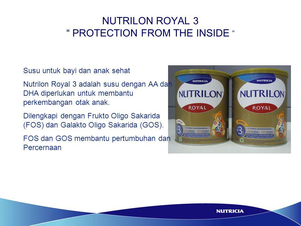 NUTRILON ROYAL 3 PROTECTION FROM THE INSIDE NARASI : Ibu Desta : Anaknya sekarang minum susu apa .
