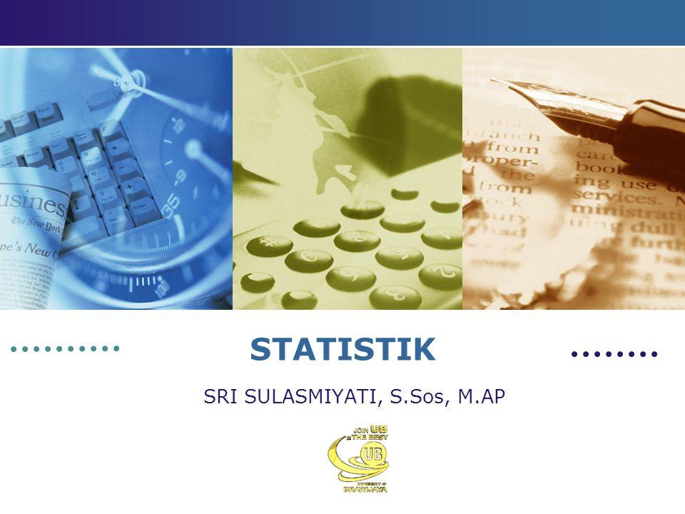 STATISTIK SRI SULASMIYATI, S.Sos, M.AP