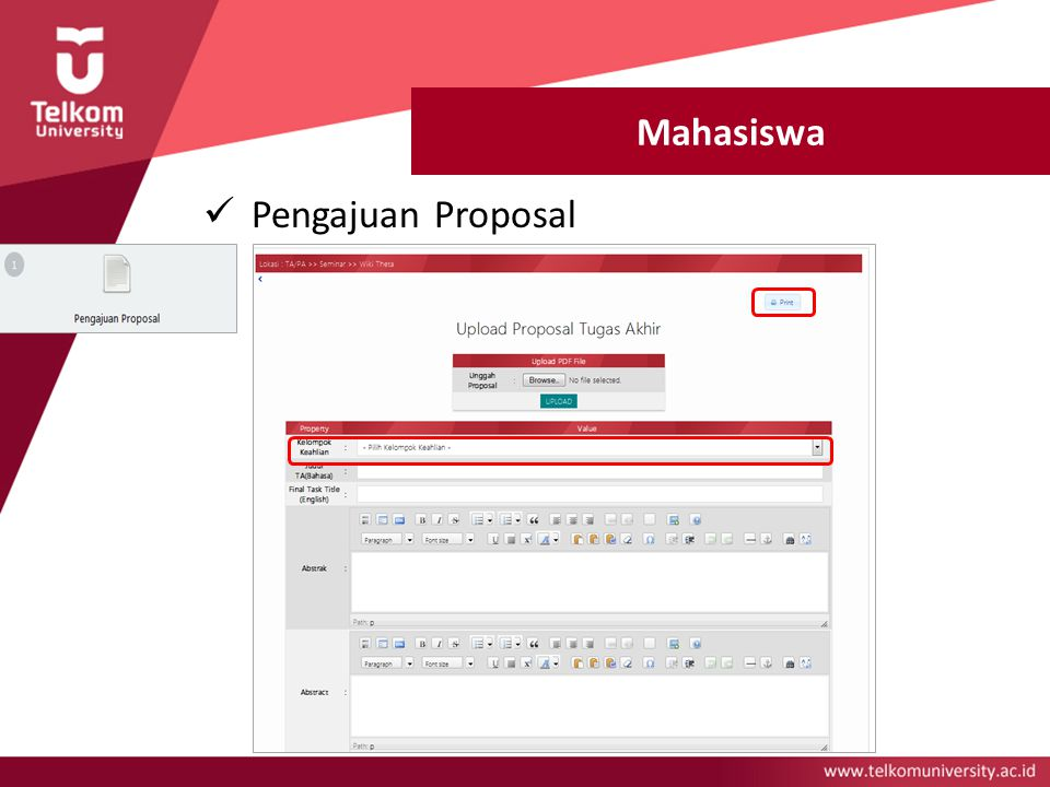 Mahasiswa Pengajuan Proposal