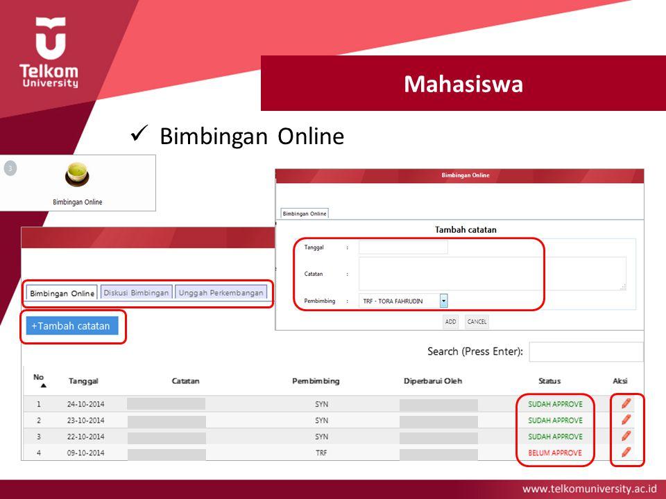 Mahasiswa Bimbingan Online