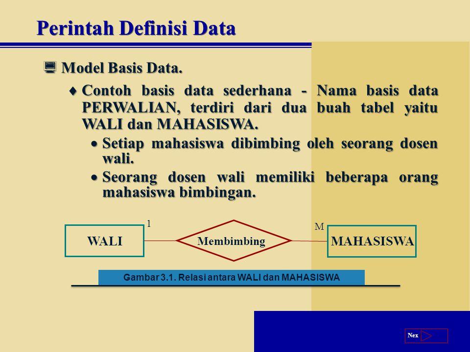 Next  Model Basis Data.