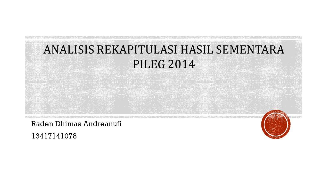 Raden Dhimas Andreanufi 13417141078 ANALISIS REKAPITULASI HASIL SEMENTARA PILEG 2014