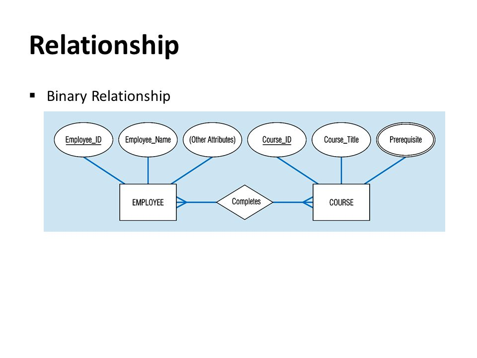Relationship  Binary Relationship