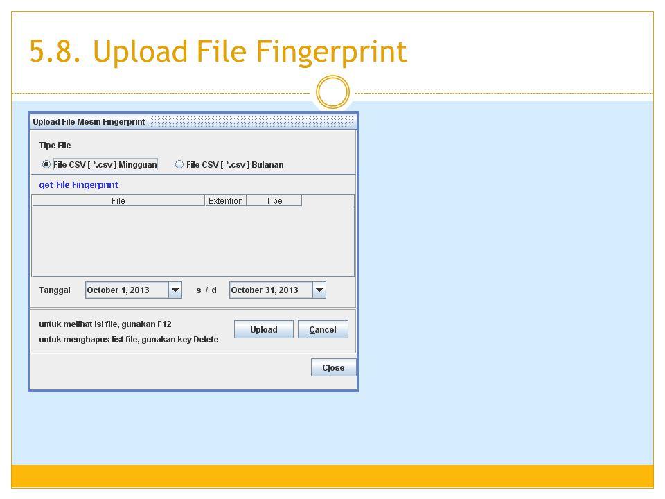5.8. Upload File Fingerprint